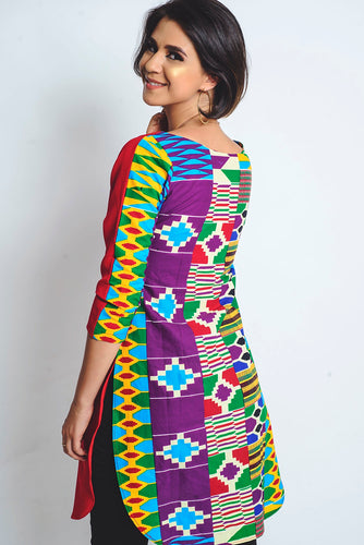 Rosemary African print Ankara X crepe 2 way top - Afrothrone