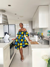 Load image into Gallery viewer, African print Kaleigh dress