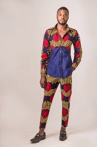 Abimbola African print men set - Afrothrone