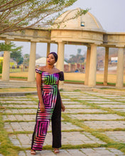 Load image into Gallery viewer, Tumelo African print wrap jumpsuit - Afrothrone