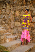 Load image into Gallery viewer, Anu African print Ankara midi dress - Afrothrone