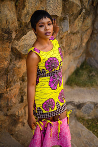 Anu African print Ankara midi dress - Afrothrone