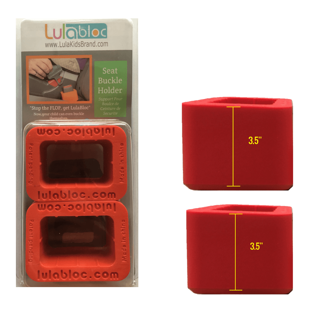 Standard LulaBloc Booster Seat Buckle Set- For Floppy Buckles - Lulakidsbrand.com