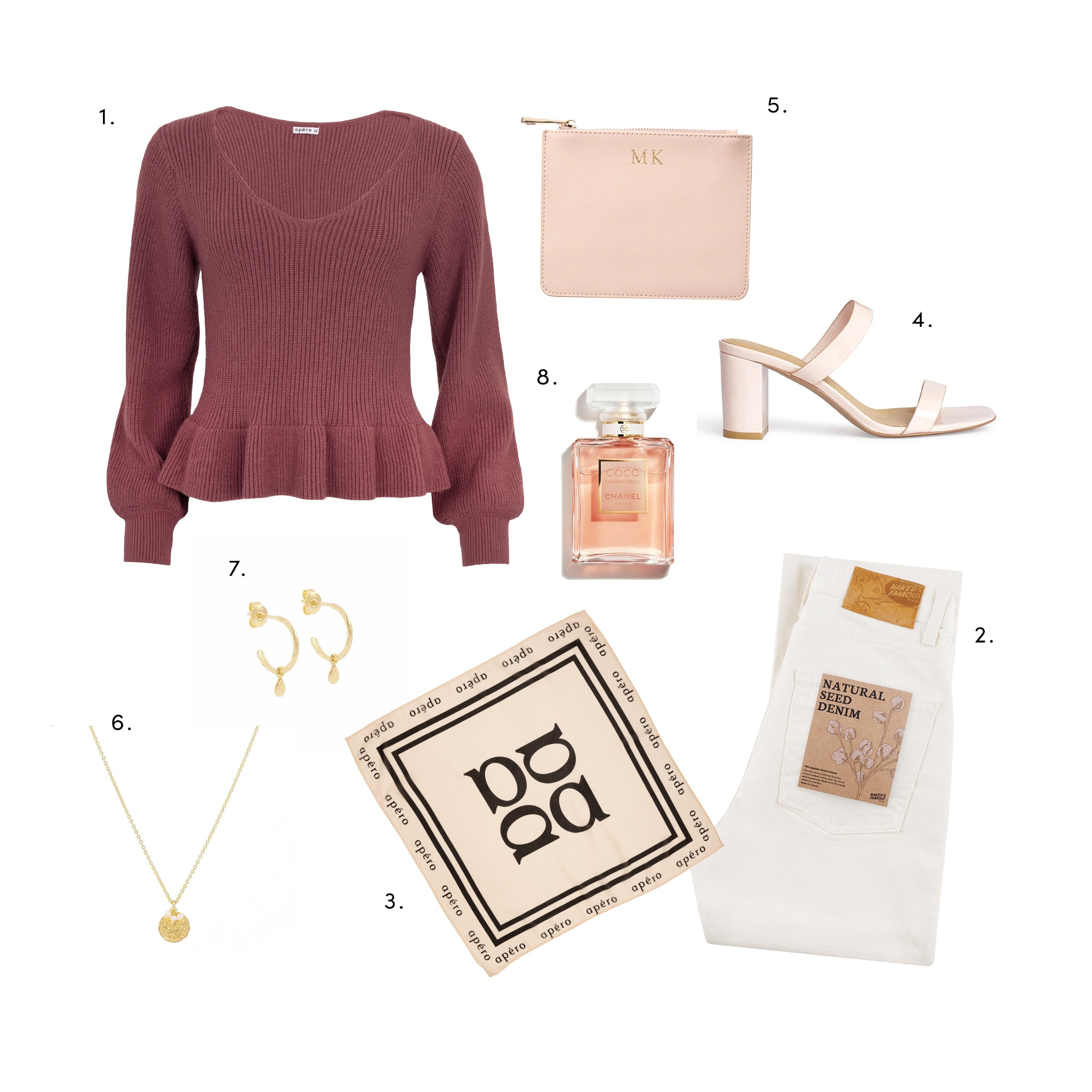 Feminine chic styling with Apero knit jumper