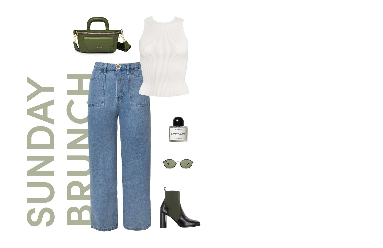 Abbey Straight Leg Jeans and Esmee Ribbed Tank Top