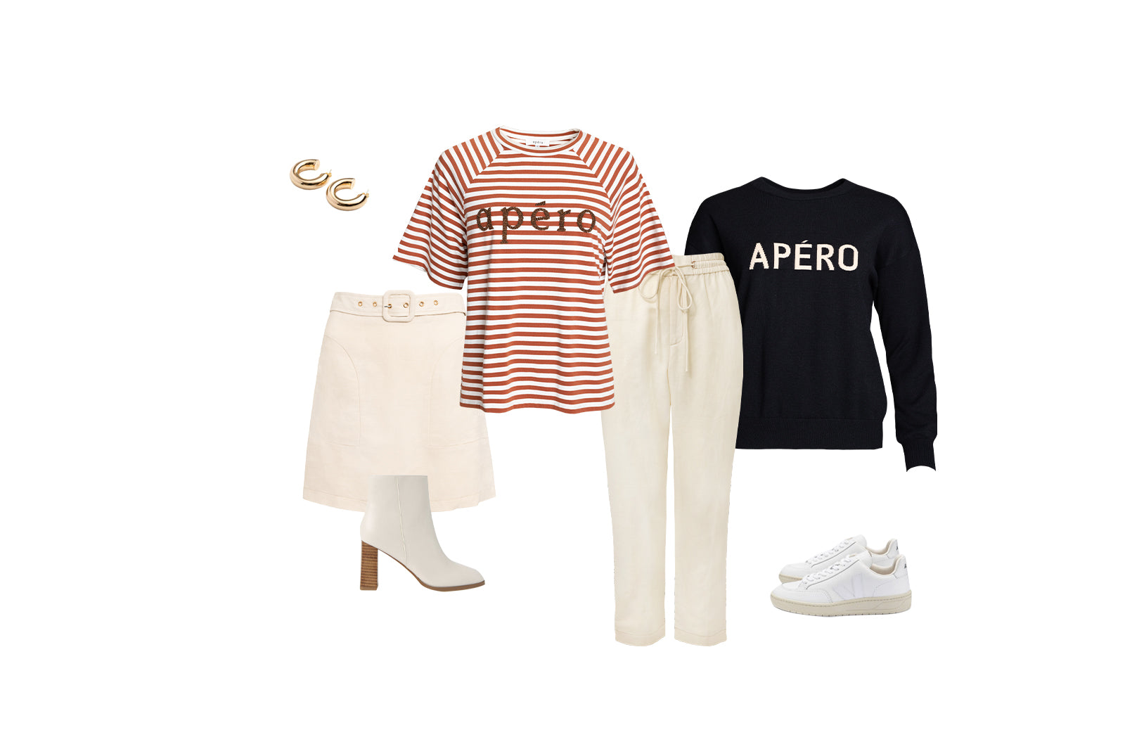 Malta Oversized Tee and The Perfect Knit Jumper