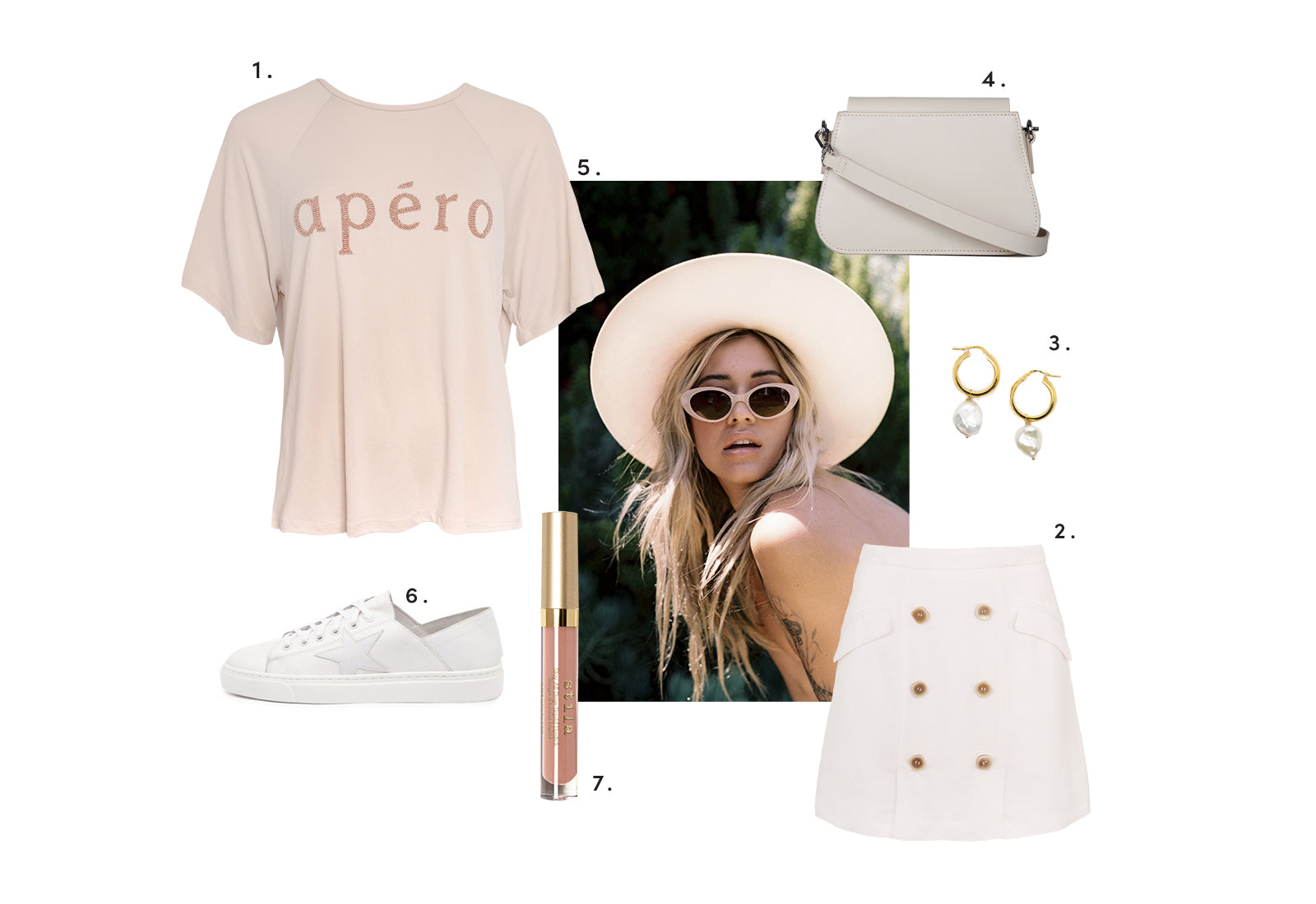 Paris Chic Style with Apero Logo Beaded Tee