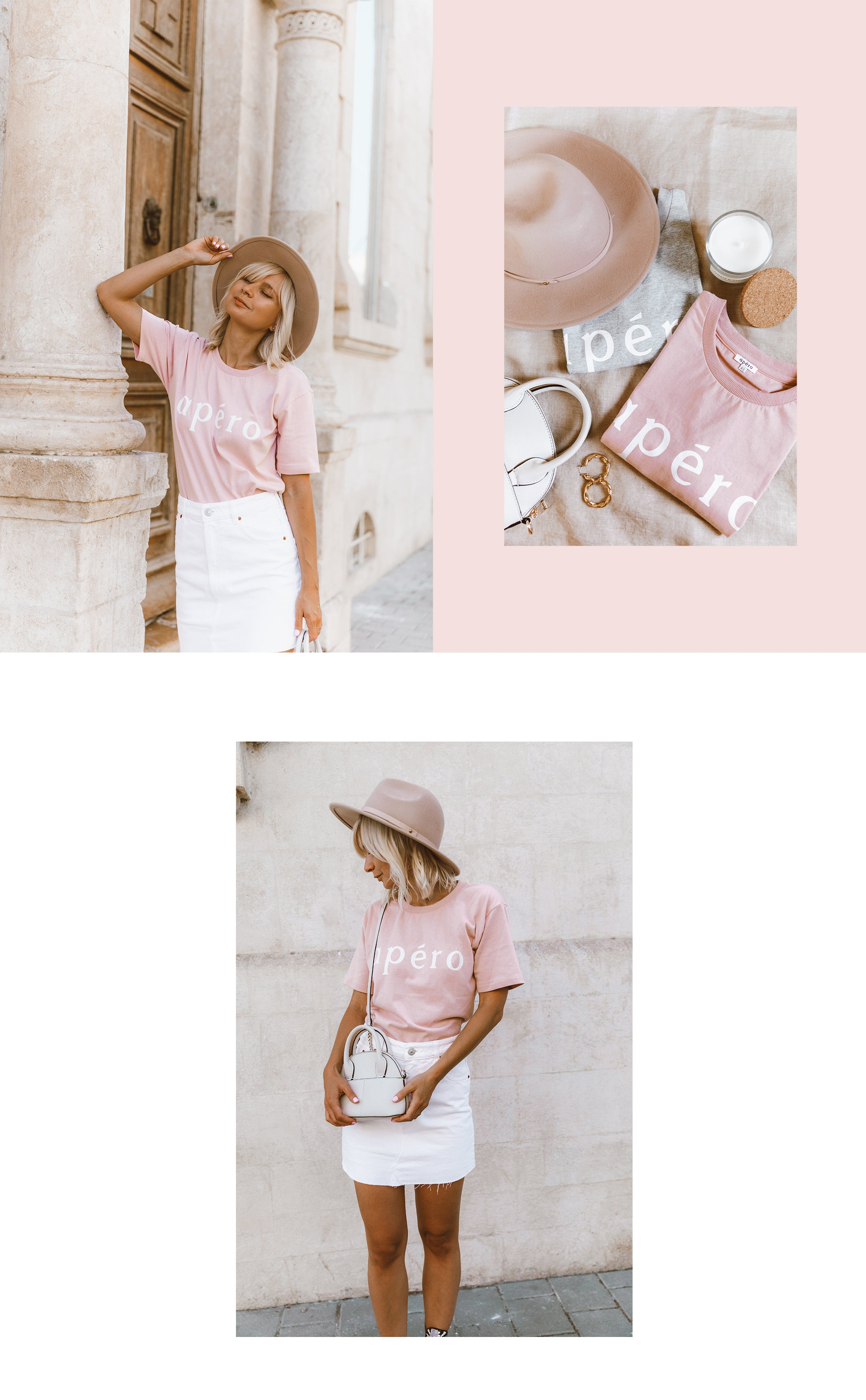 Dusty Pink printed tee