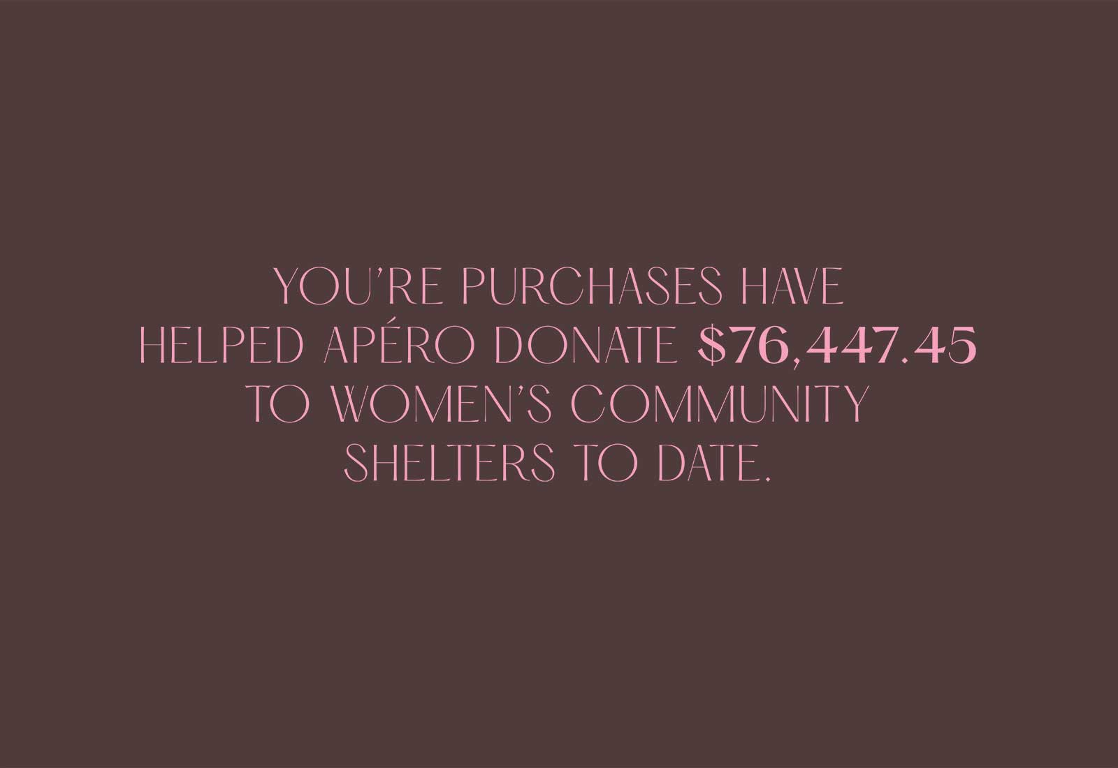 Women's Community Shelters donation