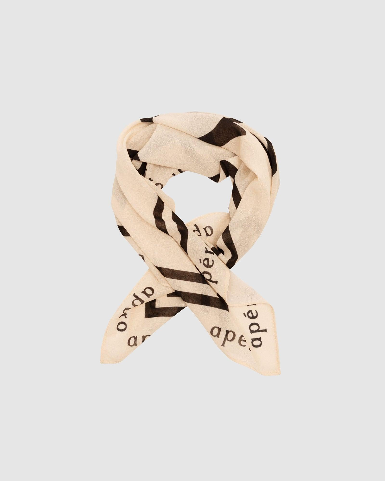 Chérie Scarf - Cream / Black