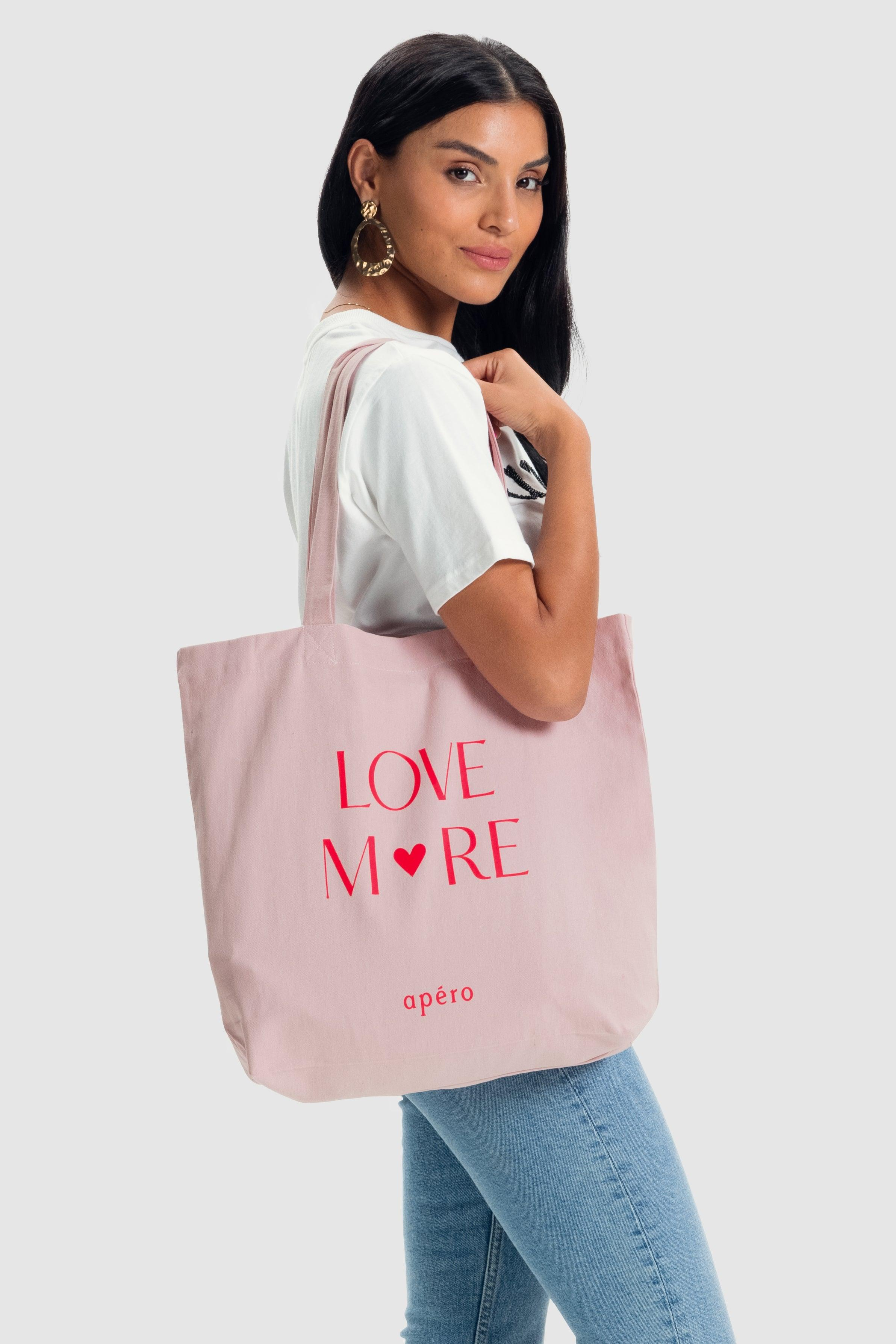 Love More Tote Bag - Dusty Pink