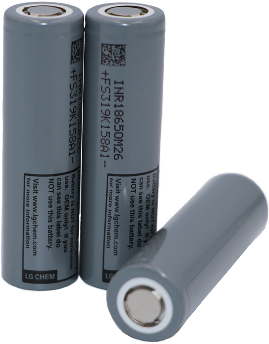 10 Pack of CPM26-LG M26 2,600 mAh 18650 LG Lithium-ion cell