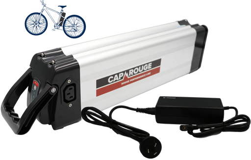 CPSIB36-13, 36 Volt, 13AH, silverfish style battery, this battery discharges at the top of the battery