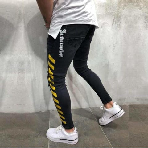 Yellow Bands™ Roads Ticks Skinny Jeans