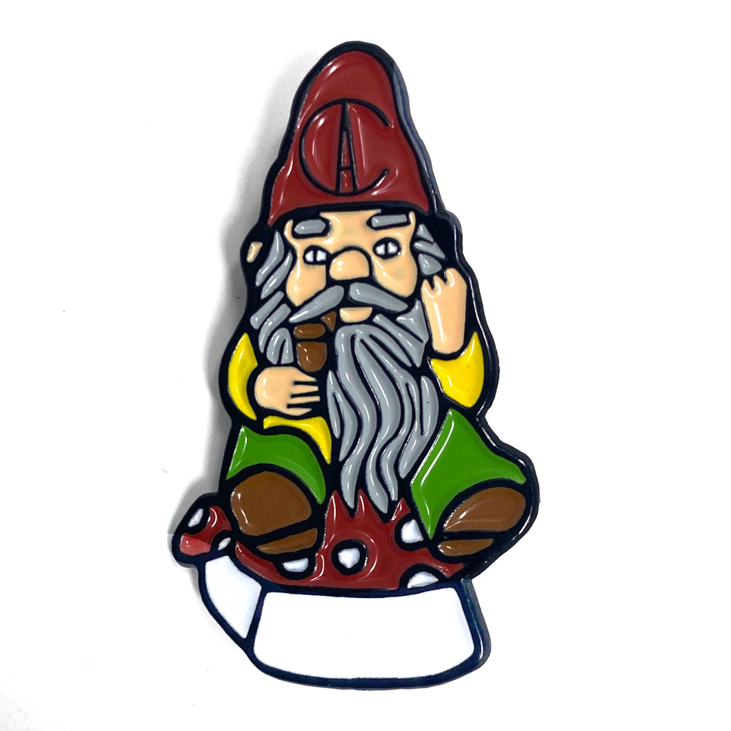 Smoking Gnome Hat Pin