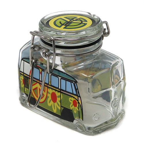 Hippie Bus Flower Power (Green & Yellow / Medium)