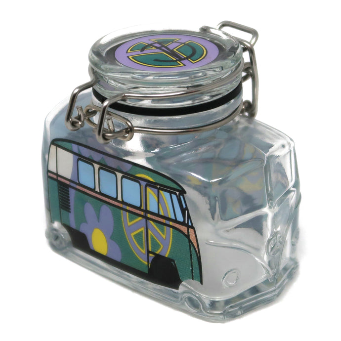 Hippie Bus Flower Power (Turquoise & Purple / Medium)