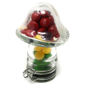 Mushroom Clear Glass Container (100mL/Medium)