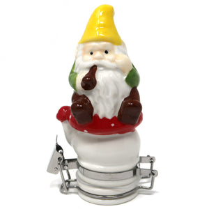 Smoking Gnome Porcelain Container (50mL/Small)