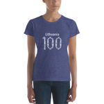 Women's short sleeve t-shirt (LITHUANIA+100)