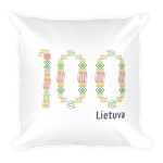 Square Pillow (LIETUVA+100)