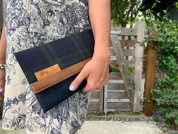 Cotswalds Plaid Clutch