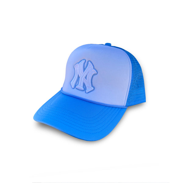 Slightly Fatter NY Trucker Hat Angel Blue