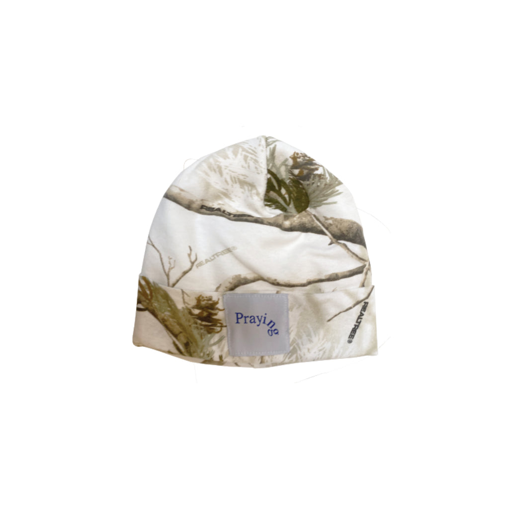 White Winter Camo Beanie