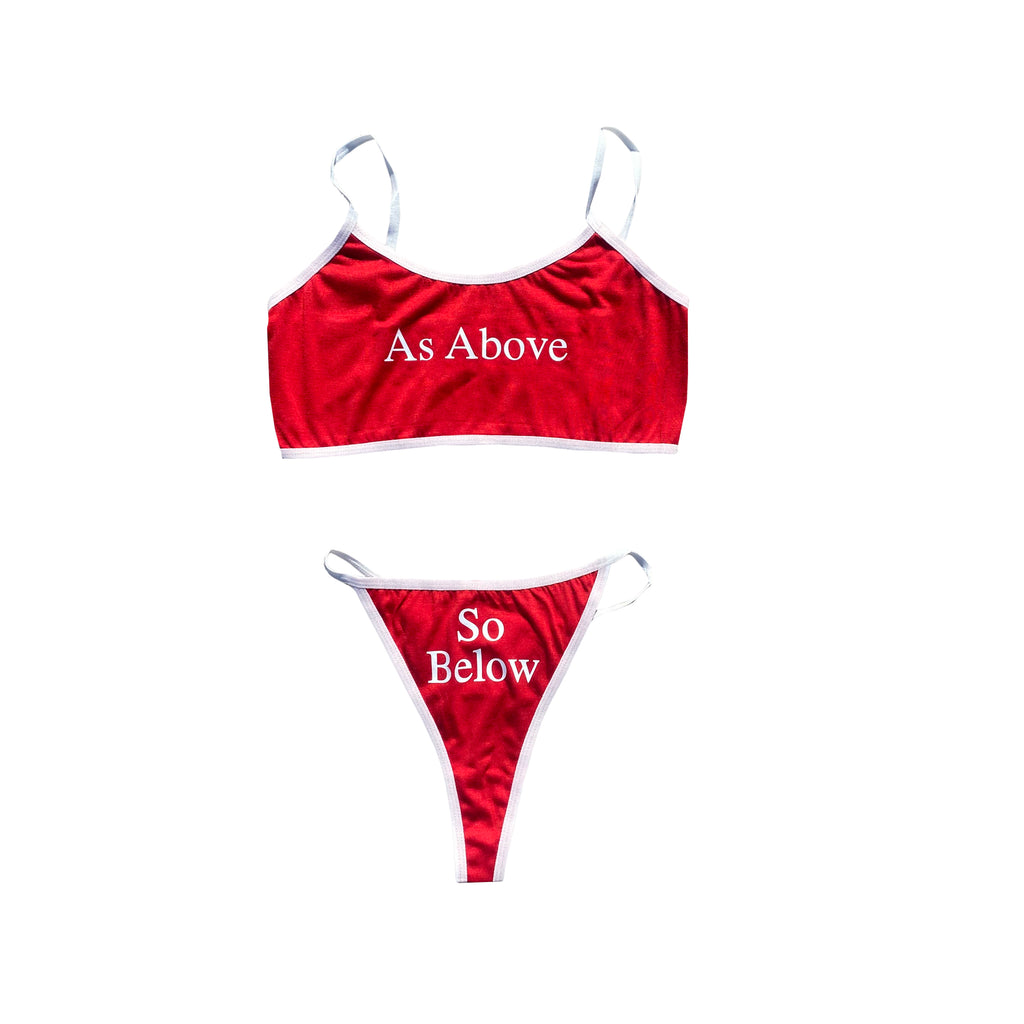 As Above So Below Underwear Set