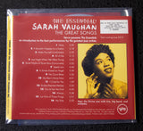 Sarah Vaughan - The Essential - back cover
