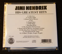 Jimi Hendrix - LIVE: His Greatest Hits - back