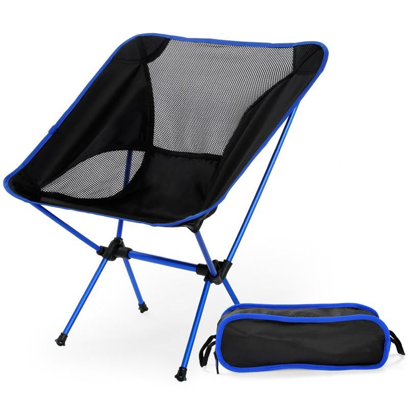 Ultra Light Folding Camp Chair Dark Blue ...