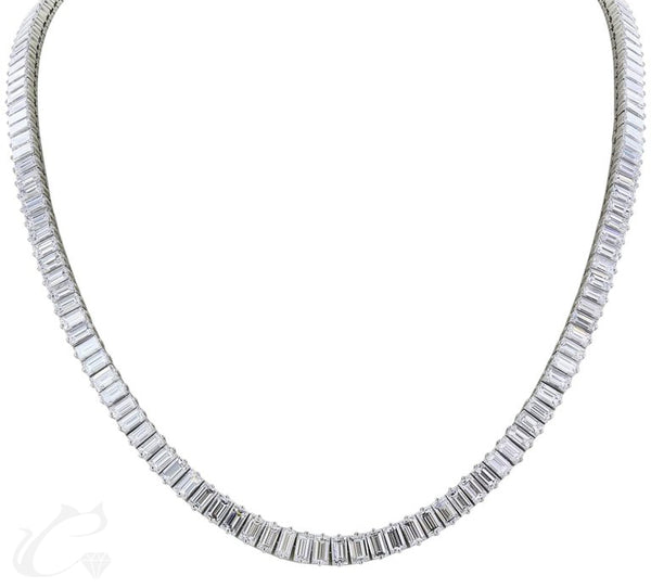 Emerald Diamond Tennis Necklace