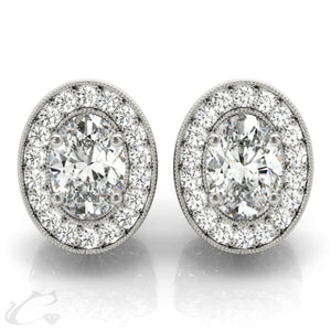 Halo earrings #40939