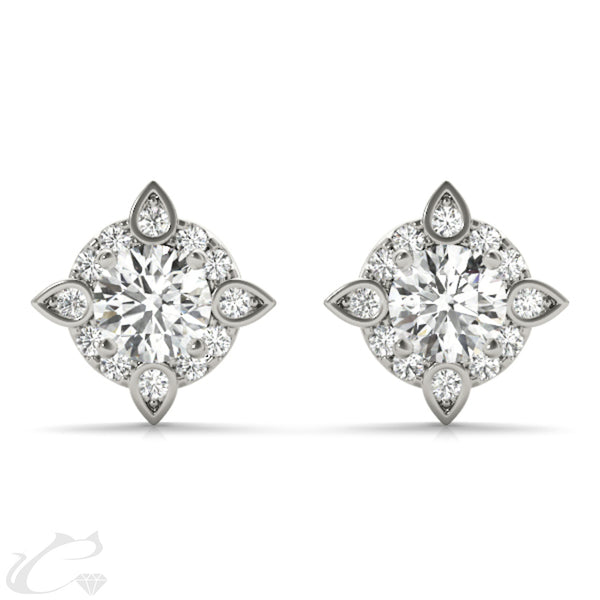 Sagitta Halo Earrings