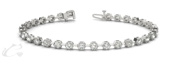 Hexagon Tennis Bracelet