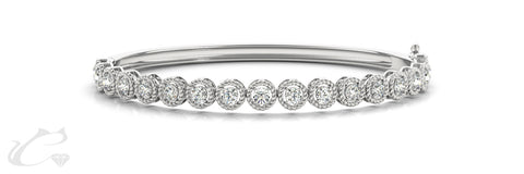 Circle Garland Diamond Bangle