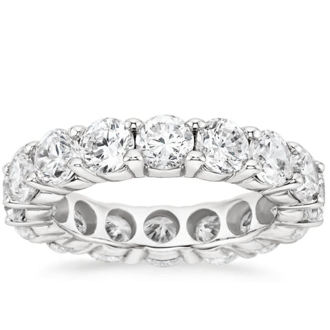 Classic Round Brilliant Diamond Eternity Band