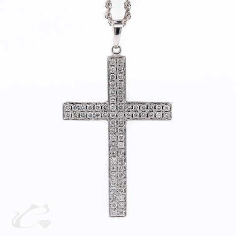 Bold Diamond Cross Pendant