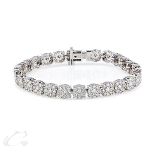4.00 ctw Illusion Diamond Tennis Bracelet