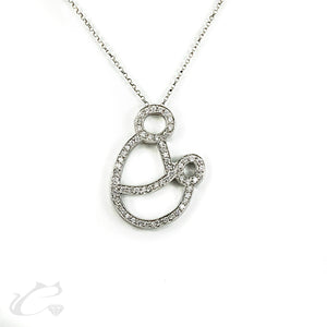 Mother and Child Diamond Pendant