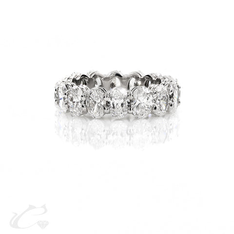 Oval Diamond Eternity Band