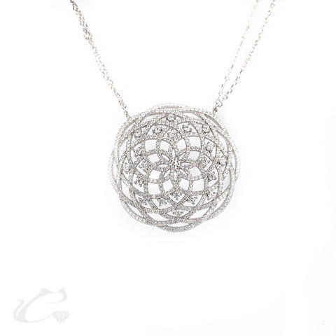 Infinite Petals Medallion Necklace