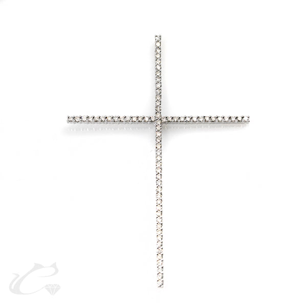 Huge Cross Diamond Pendant