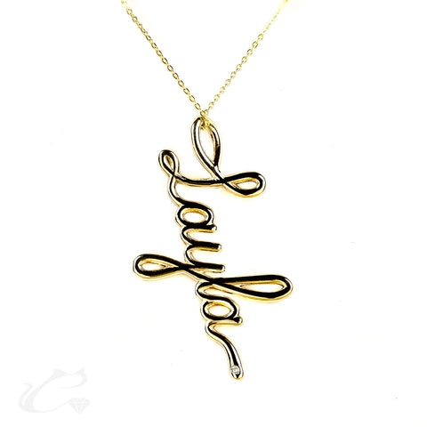 The Cursive Nameplate Necklace