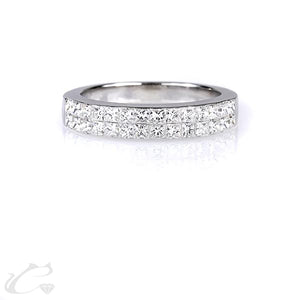 Double Row Diamond Studded Ring