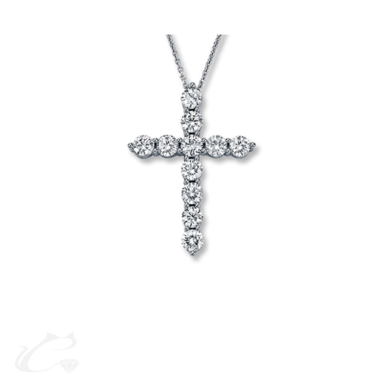 Floating Diamond Cross