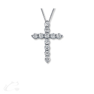 Floating Diamond Cross - Medium