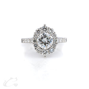 Gorgeous Halo Diamond Engagement Ring