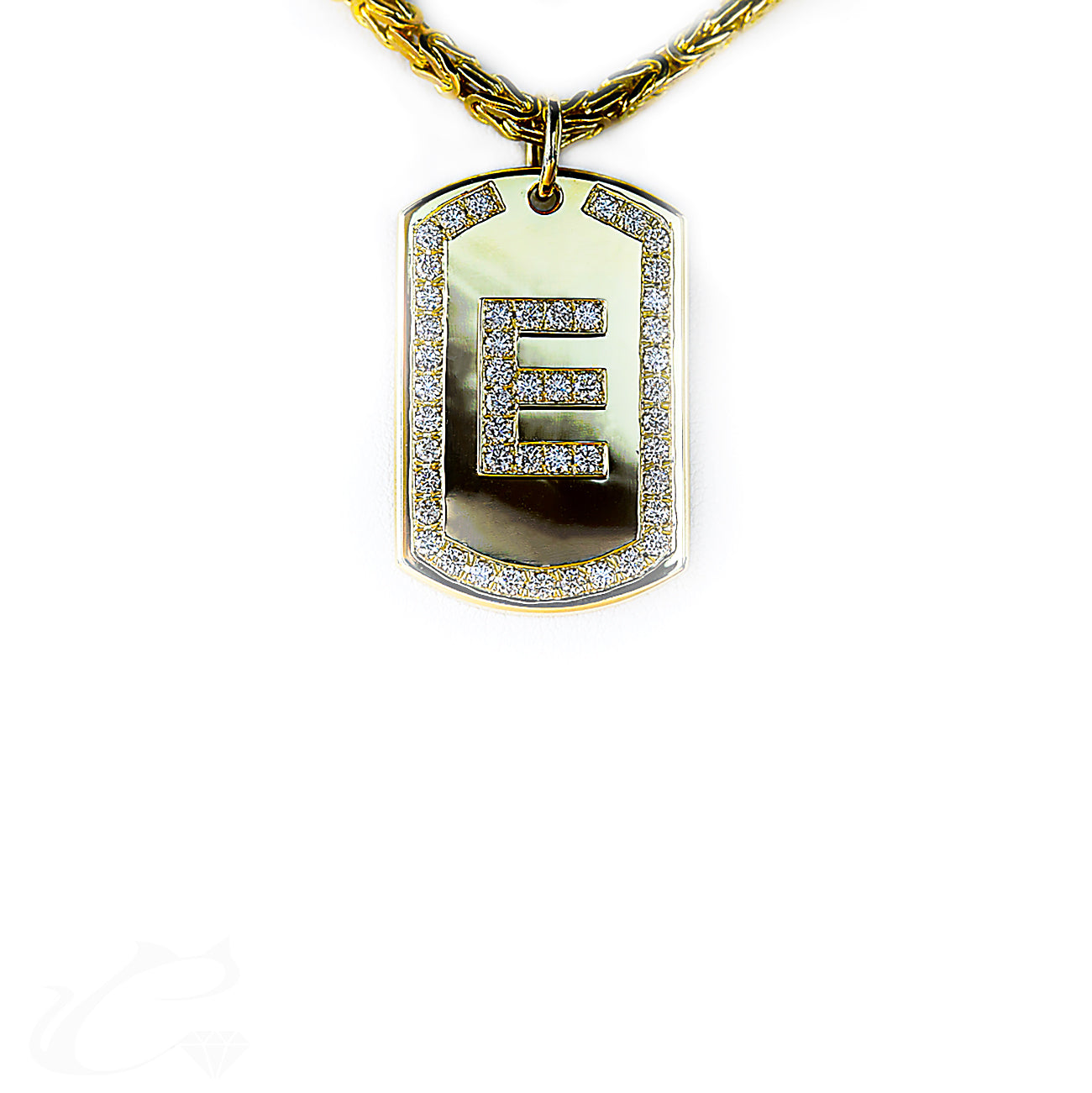 Diamond Dog Tag Necklace